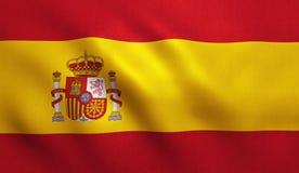 Bandeira da Espanha ilustração do vetor