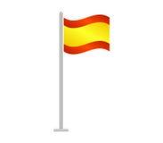 Bandeira da Espanha ilustrada Fotografia de Stock