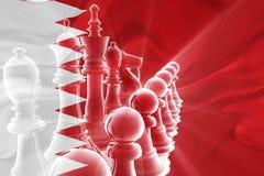 Bandeira da estratégia empresarial ondulada de Barém ilustração royalty free