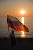 Bandeira da Federação Russa Fotografia de Stock