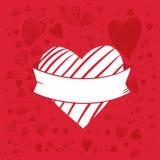 Bandeira da forma do coração ilustração stock