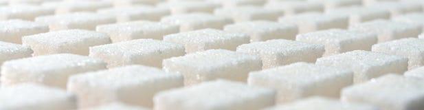 Bandeira da forma geométrica do açúcar refinado do branco Foto de Stock Royalty Free
