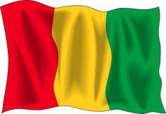 Bandeira da Guiné ilustração stock