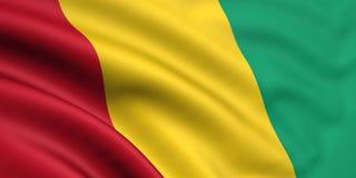 Bandeira da Guiné Foto de Stock