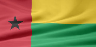 Bandeira da Guiné Bisseau Fotografia de Stock
