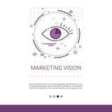 Bandeira da ideia do negócio da visão do mercado com espaço da cópia Fotografia de Stock