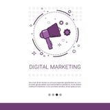 Bandeira da ideia do negócio da visão do mercado de Digitas com espaço da cópia Foto de Stock