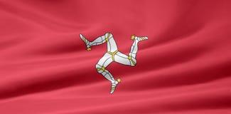 Bandeira da ilha dos homens Imagens de Stock