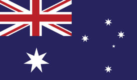Bandeira da ilustração do ícone de Austrália Imagem de Stock Royalty Free