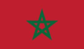 Bandeira da ilustração do ícone de Marrocos Imagens de Stock Royalty Free