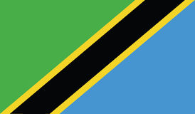 Bandeira da ilustração do ícone de Tanzânia Fotos de Stock