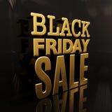 Bandeira da inscrição do ouro da venda de Black Friday Fotografia de Stock Royalty Free