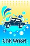 Bandeira da lavagem de carros Imagem de Stock