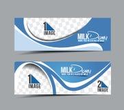 Bandeira da leiteria do leite Fotos de Stock