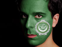 Bandeira da liga árabe Fotografia de Stock Royalty Free