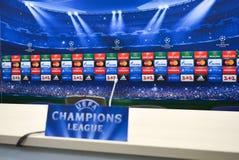 Bandeira da liga dos campeões Fotografia de Stock