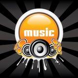 Bandeira da música Foto de Stock