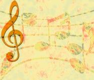 Bandeira da música de Grunge ilustração stock