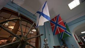 A bandeira da marinha do russo, igualmente conhecida como a bandeira do ` s de St Andrews video estoque