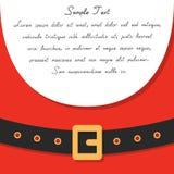 Bandeira da mensagem do ` s de Santa Imagem de Stock Royalty Free