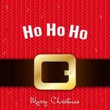 Bandeira da mensagem do ` s de Santa Feliz Natal Fotografia de Stock