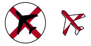 Bandeira da nação - avião isolado - Alabama Imagens de Stock
