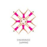 Bandeira da natação sincronizada Imagens de Stock