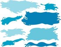 Bandeira da onda de água azul Imagens de Stock