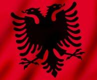 Bandeira da ondulação de Kosovo ilustração do vetor