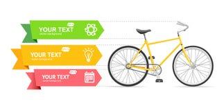 Bandeira da opção da bicicleta Vetor Fotos de Stock