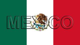 Bandeira da palavra de México ilustração stock