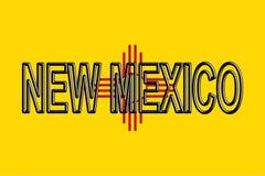 Bandeira da palavra de New mexico ilustração stock