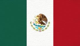 Bandeira da parede de México ilustração royalty free