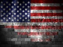 Bandeira da parede dos Estados Unidos Fotografia de Stock Royalty Free