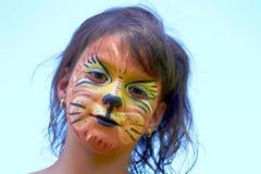 Bandeira da pintura da face do leão Fotografia de Stock Royalty Free