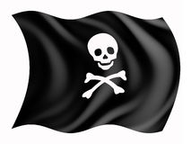 Bandeira da pirataria Fotos de Stock Royalty Free
