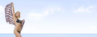 Bandeira da praia fotos de stock