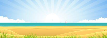 Bandeira da praia ilustração royalty free