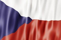 A bandeira da república checa Fotografia de Stock Royalty Free