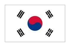 Bandeira da república Coreia ilustração do vetor