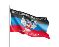 A bandeira da república do ` s dos povos de Donetsk Foto de Stock Royalty Free