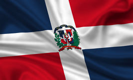 Bandeira da República Dominicana Fotos de Stock