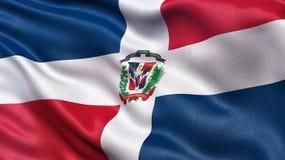 Bandeira da República Dominicana Fotografia de Stock