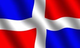 Bandeira da República Dominicana Imagem de Stock