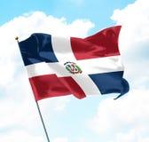 Bandeira da República Dominicana Fotografia de Stock Royalty Free