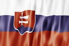 A bandeira da república eslovaca Foto de Stock