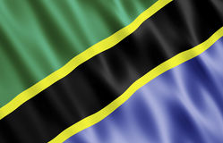 Bandeira da República Unida da Tanzânia Foto de Stock Royalty Free