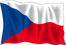 Bandeira da república checa Fotos de Stock