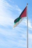 Bandeira da revolta árabe em Aqaba, Jordão Fotografia de Stock