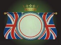 Bandeira da roseta com as bandeiras e a coroa do jaque de união Fotos de Stock
